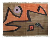Paul Klee Silence Of The Angel Inspired Hand Woven Area Wall Rug 3andprime11andprime X 5andprime6andprime