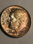 Toned Uncirculated 1964 Silver Roosevelt Dime