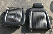 Vintage Ford Mustang Seat Black Leather