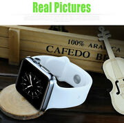 Apple Styled Touch Screen Metal Frame Body Smart Watch Mobile Phone Gsm Microsim