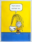Rare Vintage 1950 Peanuts Charlie Brown Charles Schultz Lithograph Print Poster