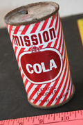 Mission Cola Flat Top Soda Pop Can Mission Dry Corporation L.a. California 1954