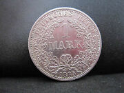 1885a Germany-empire 1 Mark Silver Coin--mint State Condition