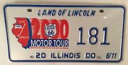 Historic Route 66 License Plate Low 181 Chicago Mother Road Joliet Edwardsville