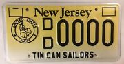 New Jersey Tin Can Sailor Navy Usn License Plate Destroyer Veteran Uss Ship Boat
