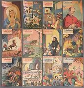 Rare Collection Of 12 1950's Jeunesse Et Herauts French Canadian Comic Books