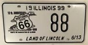 Historic Route 66 License Plate Low Number 88 Chicago Mother Road Rogers Highway