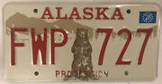 Protect Alaska Peninsula Wild Bear Grizzly License Plate State Police Fwp 727