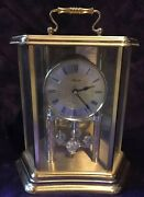 Hermle Brass Table Top Ball Pendulum Clock Germany