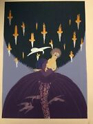 Erte Serigraph Freedom And Captivity 103/ 125 With Certificate Of Authenticity