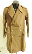 Military Ww1/2 Royal Artillery Indian Army Officers Greatcoat Uniform 3637