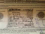 1956 Ford 4dr Sedan 4dr Historical Paperwork Document Hot Rod Project