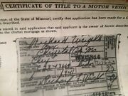 1941 Chrysler 2dr Historical Paperwork Document Hot Rod Project