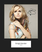 Bridgit Mendler 2 Signed 10x8 Mounted Photo Print Reprint - Free Delivery