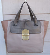 New 1695 Marc Jacobs Bronze Camel Khaki Tote Large Gold Tan Nude Brown