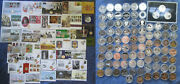 Guernsey £5 Pound Crown Commemorative Coins, Bu And Proof, Base Metal And Silver