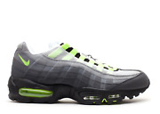 2012 Nike Air Max 95 Og Neon Sz 9 Yellow-black Off White Silver Bullet 97 2015