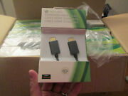 Official Microsoft Xbox 360 Standard 6.5' Black Hdmi Cable Brand New Sealed Slim