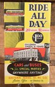 Vintage Eastern Mass St. Ry. Cars And Buses Information Advertising Booklet Map