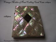 Vintage Mother Of Pearl Victorian Calling Card Case. C1850s.ah2256.
