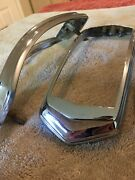 1940 Cadillac Or Lasalle Tail Light Bezels Pair