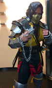 Mk 11 Mortal Kombat Scorpion Costume With Armour Mask And Weapons