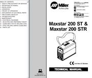 Miller Maxstar 200 St And Str Service Technical Manual