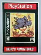 Herc's Adventures - Toys 'r' Us Display Card - Playstation 1 Ps1 - Vidpro - Rare