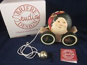 Briere Folk Art Pull Toy 1993 Signed Old Fashioned Santa Ball And Cart 451/1000 Le