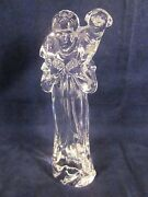 Waterford Crystal Nativity Shepherd With Sheep Lamb Excellent