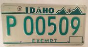 Exempt P Police Sheriff Highway Patrol License Plate State Trooper Officer