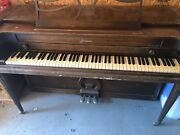 Baldwin Acrosonic Spinet Piano W Bench, Used, As-is, Pick-up Only, Potomac Md