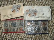 1988 Us 10 Coin Uncirculated Mint Set P And D W Original Envelope Free Shipping