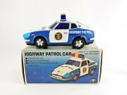 Highway Patrol Car Mt Modern Toys Battery Operated Tin Car With Original Box Cop