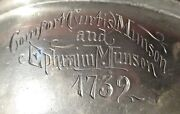 Antique 1739 Pewter Marriage Bowl