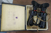 Collectible Ross London Wwii Military Air Force 5x40 Binoculars W/ Case X5 Mkiv