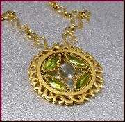 Anthony Nak 18k Yellow Gold Peridot And Blue Topaz Pendant With Chain