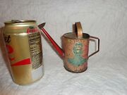 Rare Antique Childand039s Toy Miniature Tin Watering Can