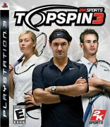 Tennis Top Spin 3 For Playstation 3 W/ Innovative Player Creator