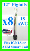 8x Fits Ign1a Aem Ignition Smart Coil Connector 12 Pigtail Plug Harness 30-2853