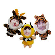 Customized 3d Face Plush Figurine Doll Three Dimensional Face Doll Keychain Gift