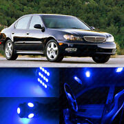 10pc Blue Car Led Lights Dome Interior Package Kit For 1998-2001 Infiniti I30