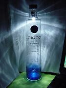 1 Lighted Ciroc Vodka Snap Frost Empty Bottle 375 Ml For Collectible