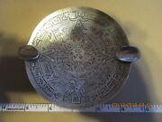 Sanborn Of Mexico Sterling Aztec Pattern Footed Ashtray