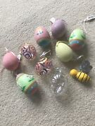Pier One Set Of Glass Glitter Easter Eggs Nwt Set Of 10