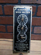 Vintage Countertop Electric Wire Meter Minneapolis Electric Co. 1930's Model