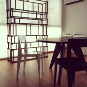 Ligne Roset La Pliee Laser-cut Steel Dining Chairs Gloss White Set Of 6 Chairs