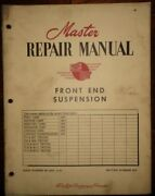1949 Ford Monarch Meteor Master Repair Manual Canadaian Front End Suspension