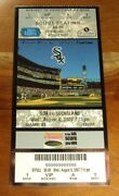 2007 White Sox Cleveland Indians Full Scout Ticket Nm Asdrubal Cabrera Mlb Debut