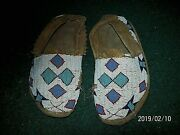 Authentic Old American Hand Made Small Beaded Moccasins - Museum Quality